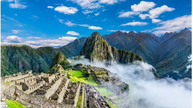 View over Machu Picchu in Peru